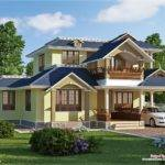 Sloping Roof Villa Plan