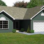 Small Bedroom Ranch House Plan Greatroom Fireplace Car