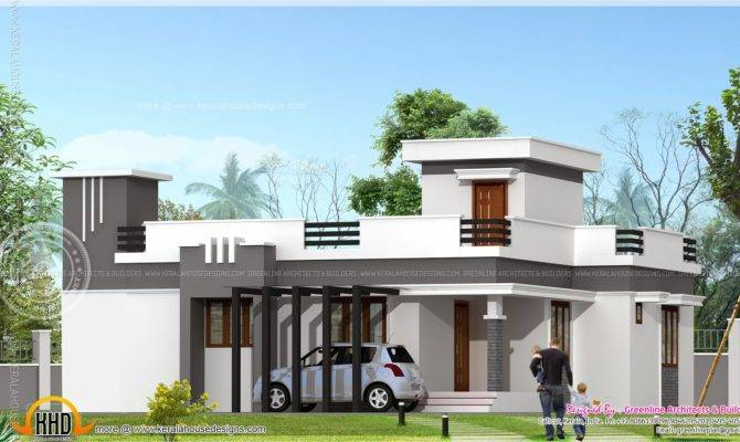 Small Contemporary Home Feet Indian House Plans