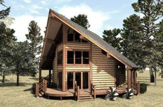 Small Frame Cabins Lofts Cabin Floor Plans Mountains