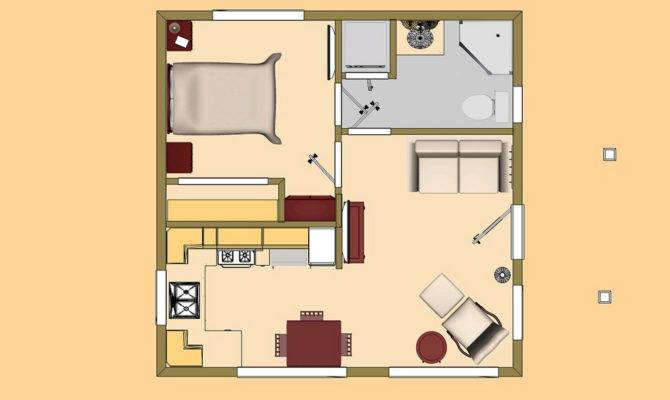 Small House Floor Plan Concept Square Box