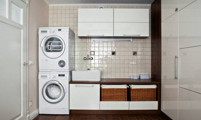 Small Laundry Room Tips Ideas Modern Storage