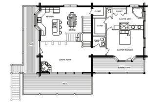 Small Log Cabin Homes Floor Plans
