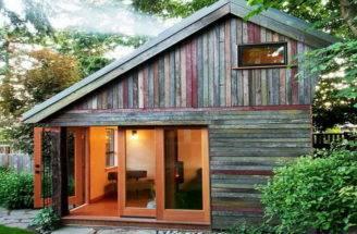 Small Rustic Home Plans Sliding Door