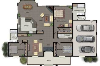 Small Story House Plans Bedrooms One