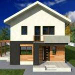Small Two Story House Plans Balcony Design Pin