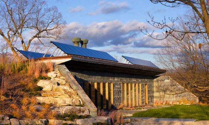 Solar Powered Carbon Neutral Earth Bermed House Made Entirely Out