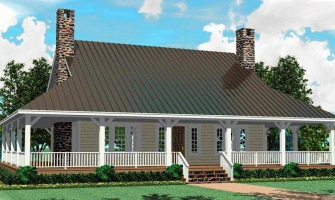 Southern House Plan Wrap Around Porch Plans Floor