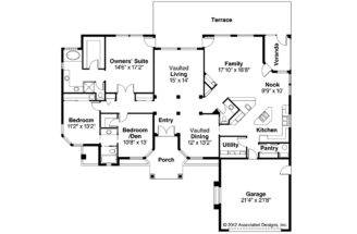 Spanish Style House Plan Richmond Floor