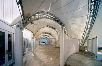Spiraling Prefab Pavilion Campus Nyc Porte Cochere