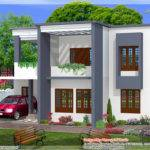 Square Feet Bedroom Simple Flat Roof Home Design