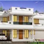 Square Feet Bhk Flat Roof House Kerala Home Design Floor Plans