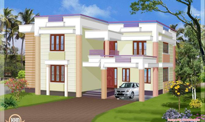 Square Feet Flat Roof House Kerala Home Design Floor Plans
