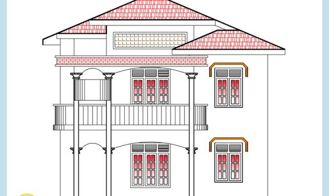 Square Feet Home Plan Elevation