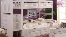 Staircase Bunk Bed Twin Stair Stepper White