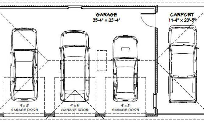 Top 9 Photos Ideas For Standard 3 Car Garage Dimensions