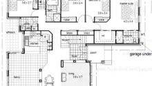 Steel Kit Homes Floor Plans Garage Under Sloping Land House Plan