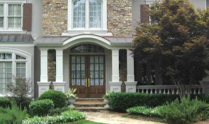 Stone Front Porch Designs Beautiful Ideas