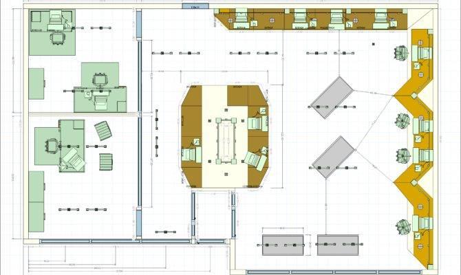 Store Floor Plan Decotech Pro Brochure Scene Editor Computer