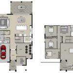 Story Car Garage House Plans Together Custom Homes Floor
