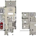 Story Car Garage House Plans Together Custom Homes Floor