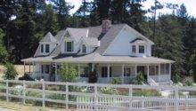 Story Country House Plans Wrap Around Porch