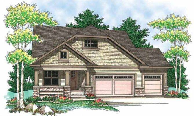 Story Craftsman Style Homes Ranch House Plans More