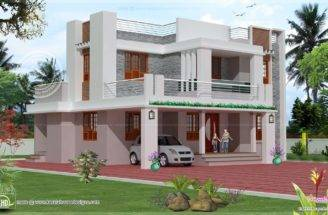 Story House Exterior Design Kerala Home Floor Plans