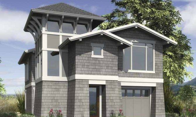 Story Narrow Lot House Plans Joy Studio Design Best