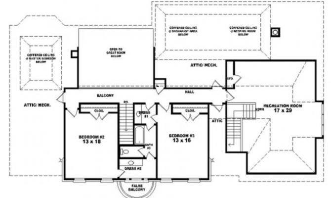 Story Traditional Luxury House Plan Bonus Room Plans