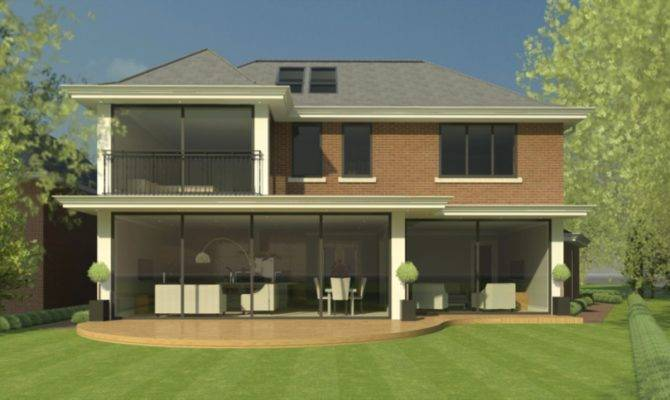 Structural Design Large Modern Style House Surrey