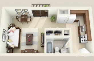 Studio Bedroom Apartments Madison Floor Plans