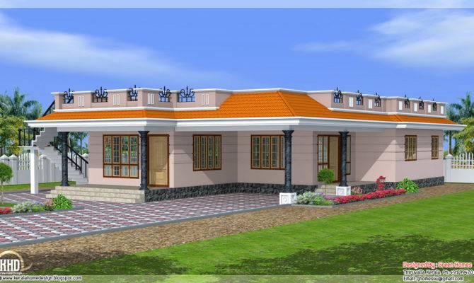 Style Single Storey Feet Home Design Kerala