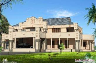 Style Super Luxury Home Design Kerala Floor Plans
