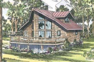 Sylvan Frame House Plans Cabin Vacation Associated