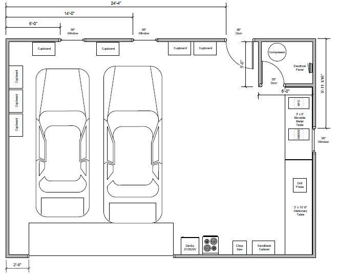 Image  3 of 19  click Image to enlarge. Teamchevy Garage Shop Build Journal Board   Home Building Plans