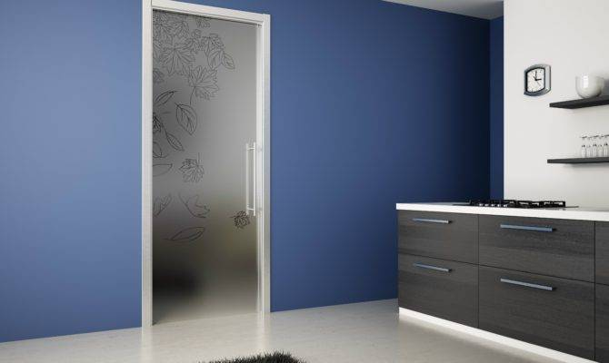 Tempered Glass Pocket Sliding Door Glaze Ermetika