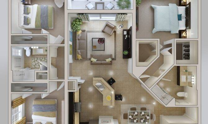 Than Some Other Designs Round Three Bedroom