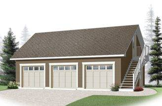 Three Car Garage Plans Loft Plan Cape Cod Styling