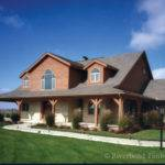 Timber Frame Front Exterior Home