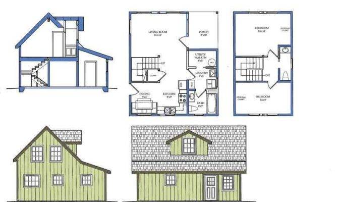 Tiny House Plans Loft Saltbox Shed