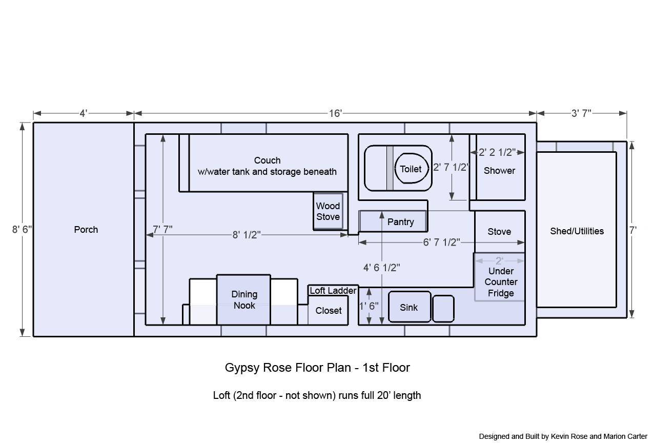 iny House Plans Wheels Gypsy ose Floor Plan - Home Building ... - ^