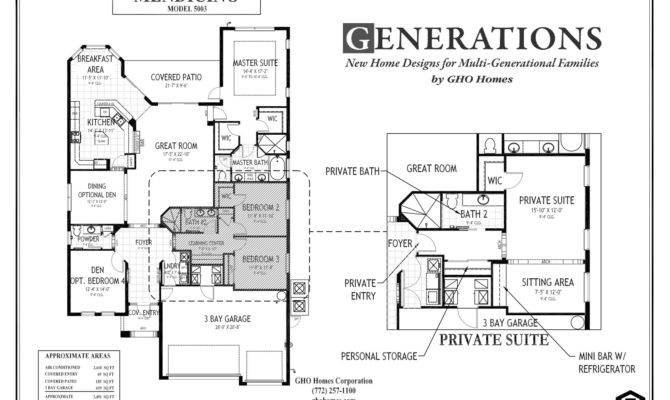 Today Multi Generational Families House Plans Floor