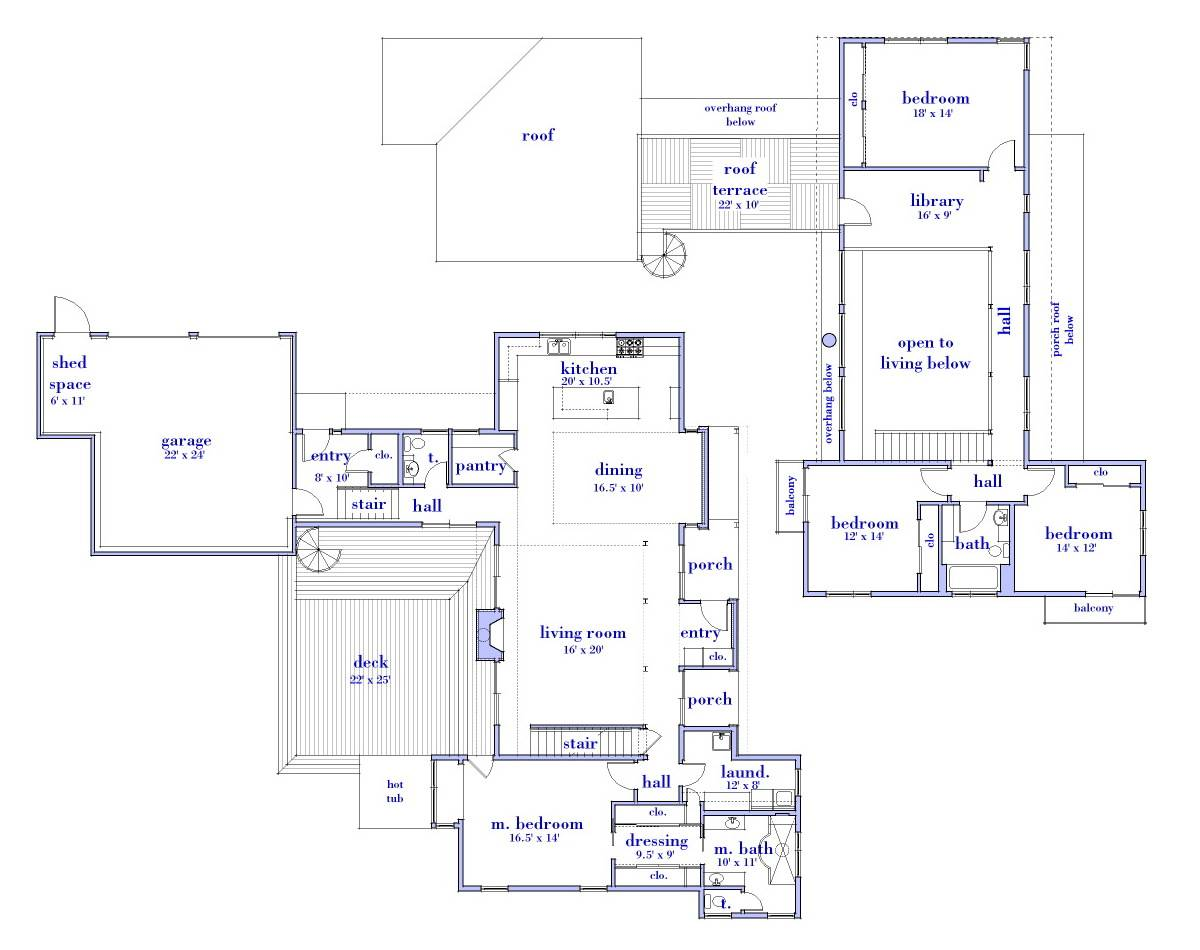 ^ op Modern House Floor Plans ottage - Home Building Plans  #76680