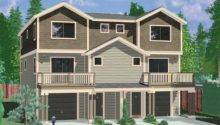 Townhouse Plans Row House Bedroom Duplex