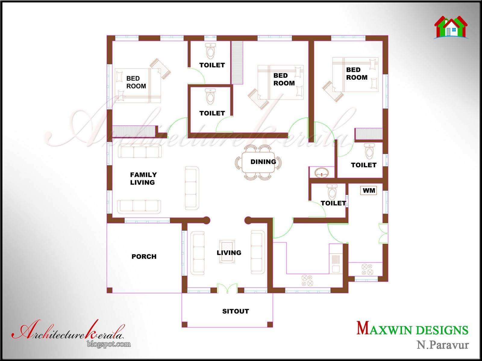 raditional Style Kerala House levation Plan - Home Building ... - ^