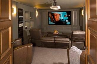 Turn Small Basement Into Cool Home Theater Design Bob Michels