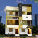 Twin House Architecture Sameer Kerala Home Design Floor Plans