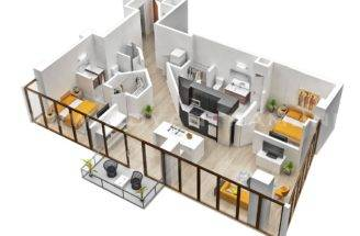 Two Bedroom House Apartment Floor Plans Plan Tours Marquette