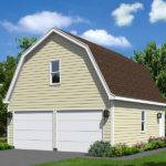 Two Car Garage Has Gambrel Roof Style Similar Country Barn